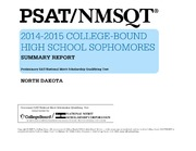ERIC ED559050: PSAT-NMSQTR 2014-2015 College-Bound High School Sophomores. Summary Report. North Dakota