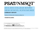 ERIC ED559065: PSAT-NMSQTR 2014-2015 College-Bound High School Sophomores. Summary Report. Virgin Islands