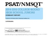 ERIC ED559115: PSAT-NMSQTR 2014-2015 College-Bound High School Juniors. Summary Report. Louisiana