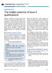 ERIC ED560847: The Hidden Potential of Level 5 Qualifications. Briefing Note