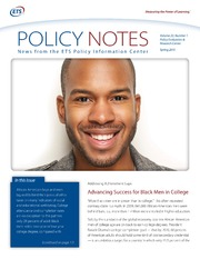 ERIC ED560940: Addressing Achievement Gaps: Advancing Success for Black Men in College. Policy Notes. Volume 22, Number 1, Spring 2015