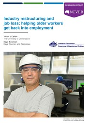 ERIC ED561222: Industry Restructuring and Job Loss: Helping Older Workers Get Back into Employment. Research Report