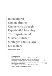ERIC EJ1056367: Intercultural Communication Competence through