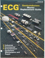 ECG Semiconductors Master Replacement Guide (1989) : Free