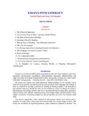 essays into literacy frank smith streaming essays into literacy