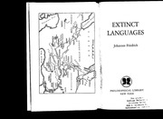Extinct Languages Johannes Friedrich Translated Into English By - Extinct languages
