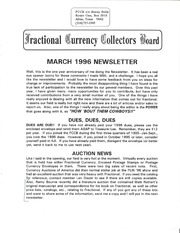 Fractional Currency Collectors Board Newsletter