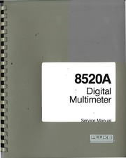 fluke 8520 a service manual free download borrow and streaming rh archive org Repair Manuals Owner's Manual