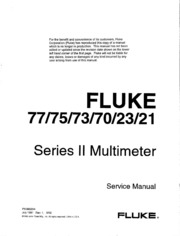 fluke 75 instruction manual