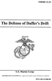 the defence of duffer's drift Atsj-mpb-t-b 30 oct 03 memorandum for small group leader, attn: capt settles, mpobc 6-03, us army military police school, fort leonard wood, mo 65473.