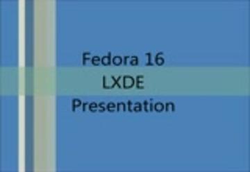 Fedora 16 LXDE