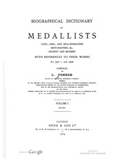 Biographical Dictionary of Medallists, vol. 1 [A-D] (pg. 94)