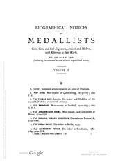 Biographical Dictionary of Medallists, vol. 2 [E-H]