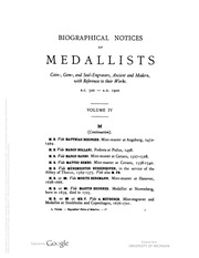 Biographical Dictionary of Medallists, vol. 4 [MB-Q]