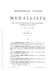 Biographical Dictionary of Medallists, vol. 6 [T-Z] (pg. 232)
