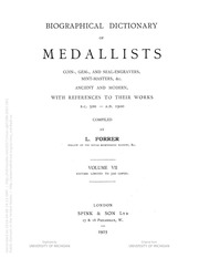 Biographical Dictionary of Medallists, vol. 7 [Supplement, A-L]