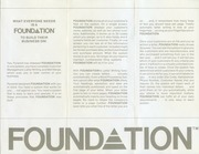 Foundation Pyramid Pamphlet : Free Download, Borrow, and