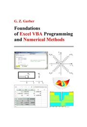Foundations of Excel VBA Programming and Numerical Methods : G Z