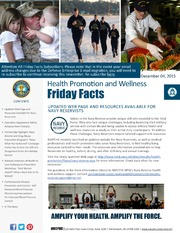 Health Promotion and Wellness Friday Facts 4 Dec 2015