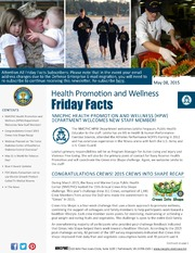 Health Promotion and Wellness Friday Facts 08 May 2015