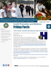 Health Promotion and Wellness Friday Facts 11 September 2015