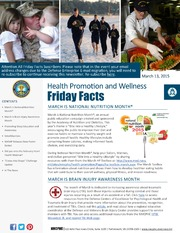 Health Promotion and Wellness Friday Facts 13 March 2015