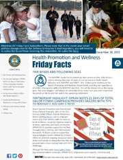 Health Promotion and Wellness Friday Facts 18 Dec 2015