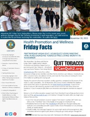 Health Promotion and Wellness Friday Facts 20 Nov 2015