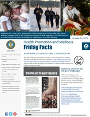 Health Promotion and Wellness Friday Facts 23 Oct 2015