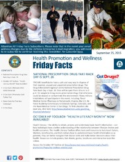 Health Promotion and Wellness Friday Facts 25 September2015