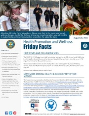 Health Promotion and Wellness Friday Facts 28 August 2015