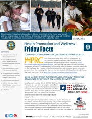 Health Promotion and Wellness Friday Facts 5 June 2015