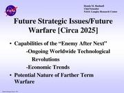 Future Strategic Issues/Future Warfare [Circa 2025 ...