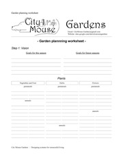 Insane image for garden planning worksheet