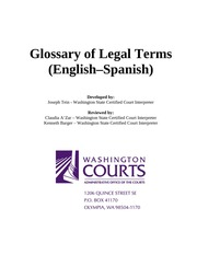 english glossary of terms Glossary of legal terminology - english to spanish edited and expanded by john lombardi a abrogate revocar, anular, abrogar abduction rapto accessory after the fact cómplice (encubridor) accomplice cómplice account for (your actions) dar razón (de su comportamiento) dar cuenta (de sí.