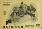 Goos and Koenemann: Pflanzen-Verzeichnis 1906