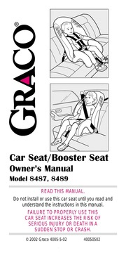 Graco Car Seat 8487 User Manual Free Download Borrow And Streaming Internet Archive
