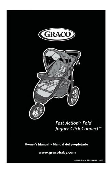 Graco Graco Stroller PD213968A Stroller User Manual ...