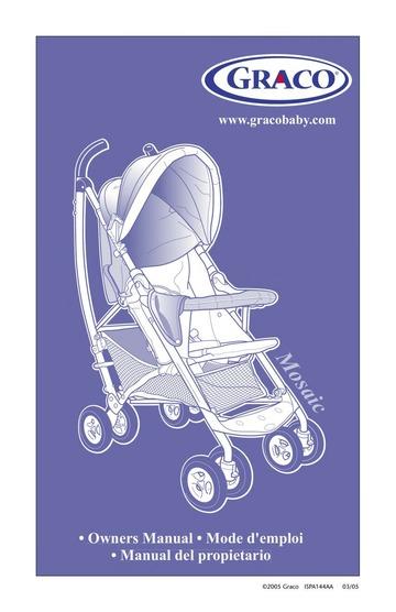 Graco Mosaic Stroller User Manual : Graco : Free Download ...