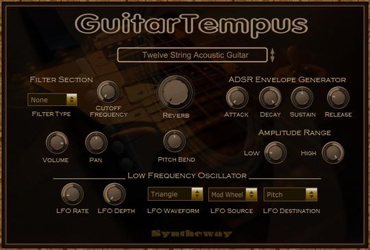 guitartempus virtual guitar vst vst3 audio unit acoustic nylon six and twelve steel string. Black Bedroom Furniture Sets. Home Design Ideas