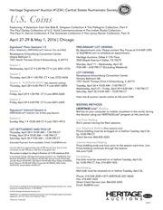 US Coins Signature Auction CSNS Chicago