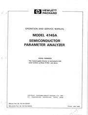 HP 4145B Semiconductor Parameter Analyzer Operation Manual ...