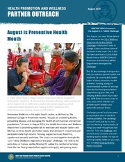 Health Promotion and Wellness Partner Outreach - August 2014