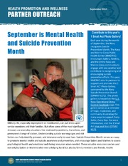 Health Promotion and Wellness Partner Outreach - September 2015