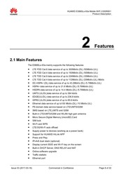 HUAWEI E 5885 Ls 93a Mobile Wi Fi Product Description 2