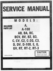 Hammond Organ Service Manual - Early Models (A,B,C series