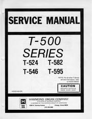 Internet Archive Search: hammond organ service manual on