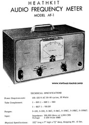 Sound Frequency Meter : Heathkit af audio frequency meter schematic free