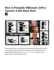 Here Is Pedophile Billionaire Jeffrey Epsteins Little Black Book 1