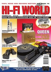 Hi Fi World December 2015 : Free Download, Borrow, and